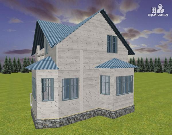 Фото 5: проект дом из бруса 7х9 с эркерами и балконом