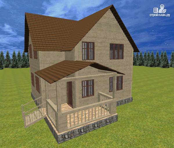 Фото 4: проект дом из бруса 7.5х8 с террасой