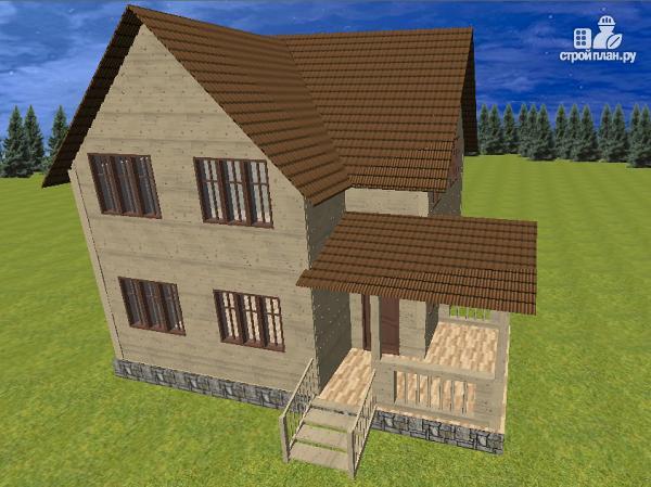 Фото 3: проект дом из бруса 7.5х8 с террасой