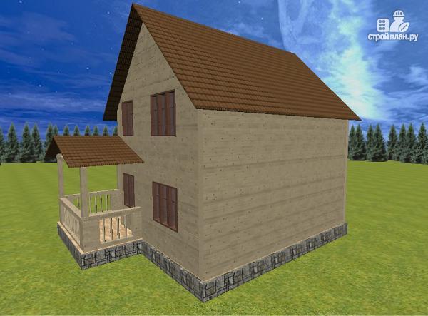 Фото 5: проект дом из бруса 7.5х8 с террасой