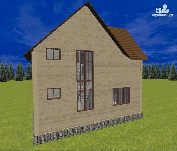 Фото 6: проект дом из бруса 7.5х8 с террасой