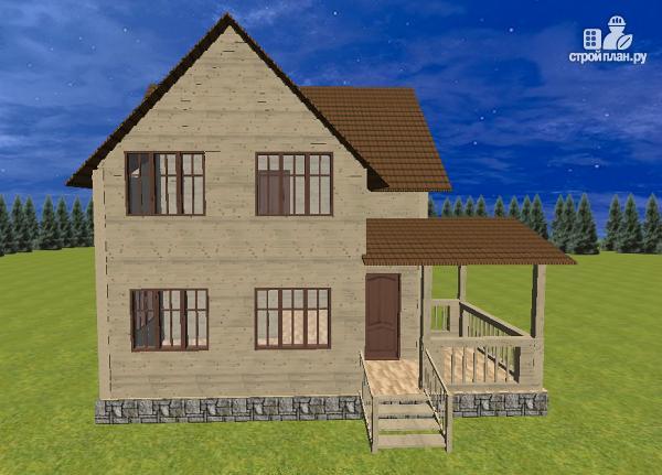 Фото 7: проект дом из бруса 7.5х8 с террасой