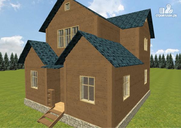 Фото 2: проект дом из бруса 8х8