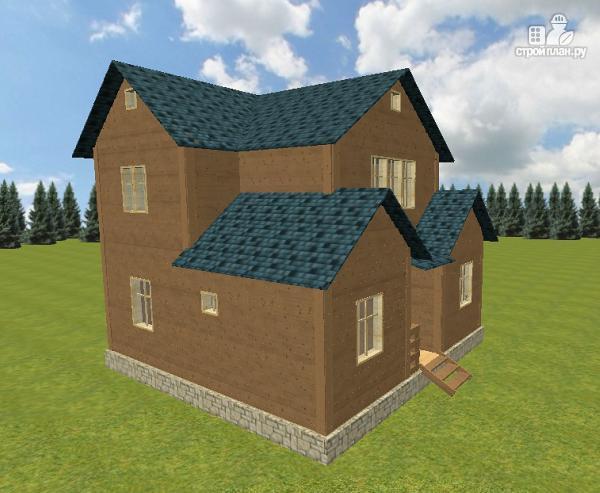 Фото 8: проект дом из бруса 8х8