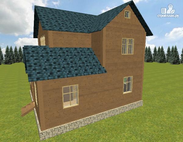 Фото 5: проект дом из бруса 8х8