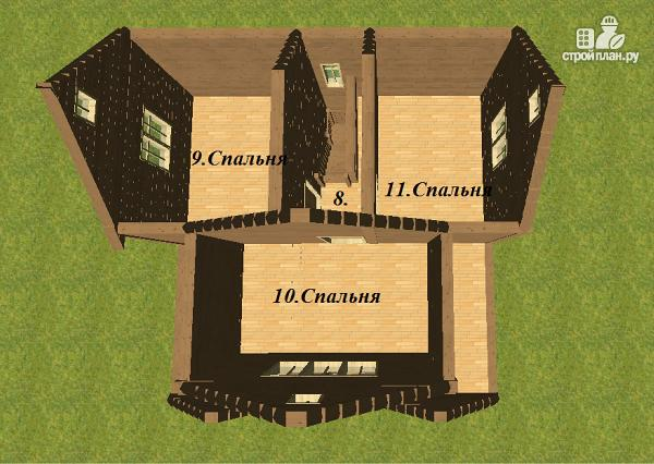 Фото 12: проект дом из бруса 8х8