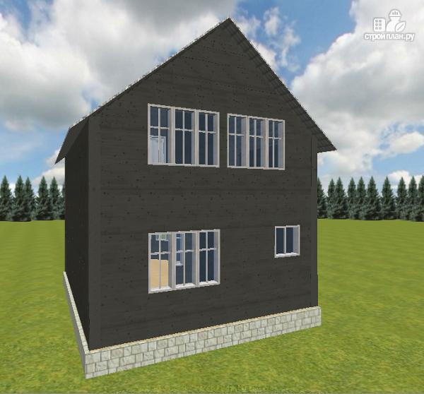 Фото 4: проект дом из бруса 7х9 со вторым светом