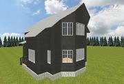 Фото: дом из бруса 7х9 со вторым светом