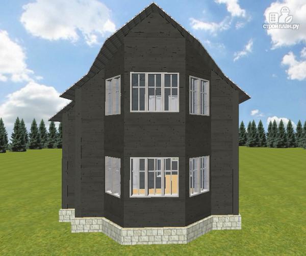 Фото 2: проект дом из бруса 7х9 со вторым светом