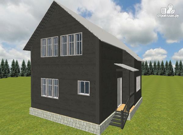 Фото 5: проект дом из бруса 7х9 со вторым светом