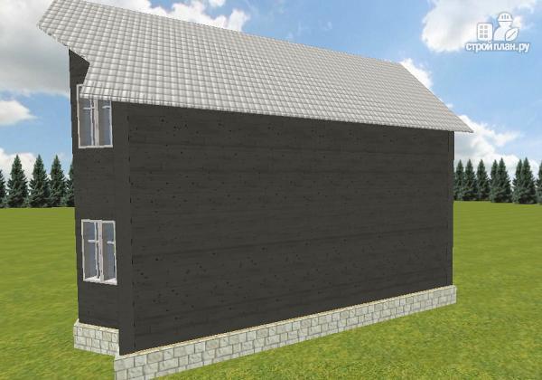 Фото 3: проект дом из бруса 7х9 со вторым светом