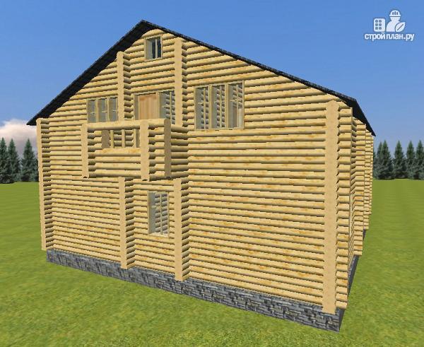 Фото 2: проект дом из бревна 10х12 со светелкой