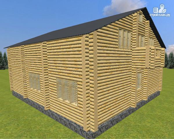 Фото 4: проект дом из бревна 10х12 со светелкой
