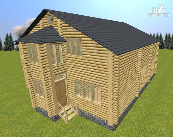 Фото 5: проект дом из бревна 10х12 со светелкой