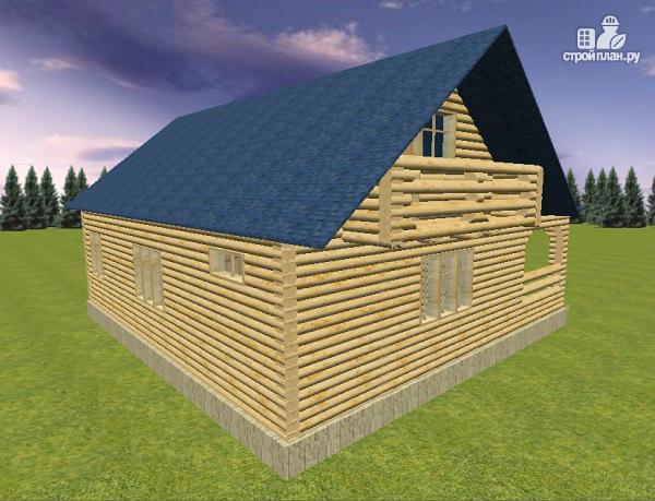 Фото 4: проект дом из бревна 10х11 с террасой