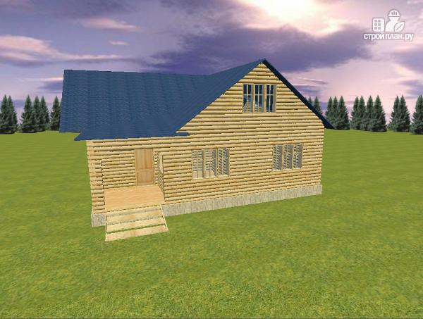 Фото 7: проект дом из бревна 10х11 с террасой