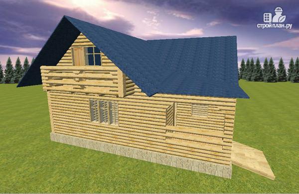 Фото 3: проект дом из бревна 10х11 с террасой
