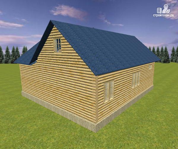 Фото 5: проект дом из бревна 10х11 с террасой