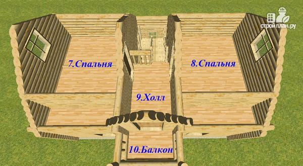 Фото 15: проект дом из бревна 6х9