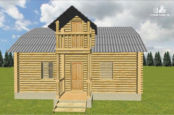 Фото 3: проект дом из бревна 6х9