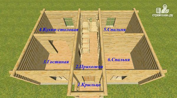 Фото 13: проект дом из бревна 6х9