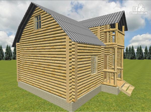 Фото 4: проект дом из бревна 6х9