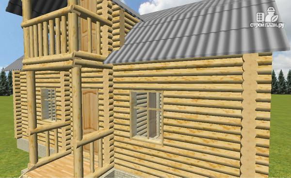 Фото 10: проект дом из бревна 6х9