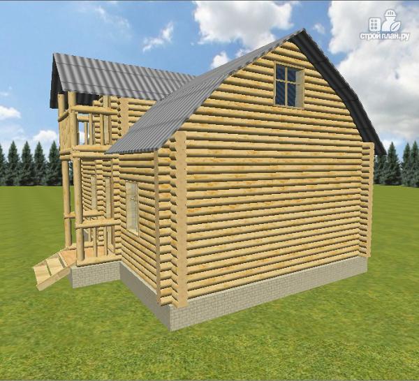 Фото 9: проект дом из бревна 6х9