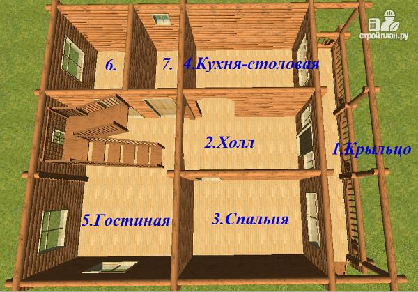 Фото 12: проект сруб дома из бревна 10х12