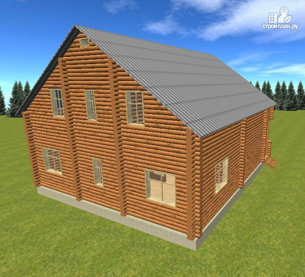 Фото 6: проект сруб дома из бревна 10х12