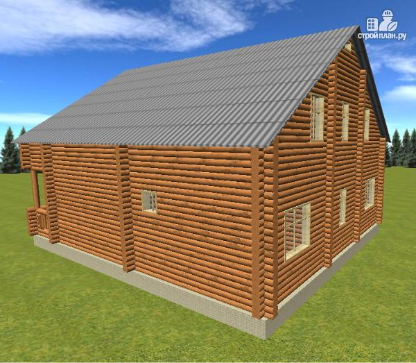 Фото 8: проект сруб дома из бревна 10х12