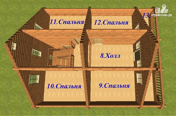 Фото 14: проект сруб дома из бревна 10х12