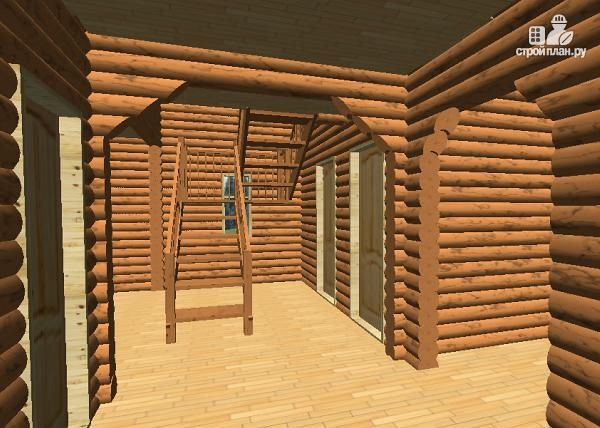 Фото 9: проект сруб дома из бревна 10х12
