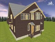 Проект дом на две семьи 10х12.5