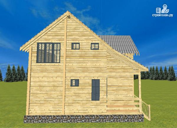 Фото 5: проект спаренный дом из бруса 8х10