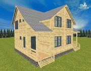 Проект спаренный дом из бруса 8х10