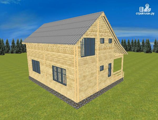 Фото 7: проект спаренный дом из бруса 8х10