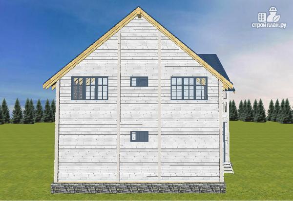 Фото 3: проект спаренный дом из бруса 9.5х14