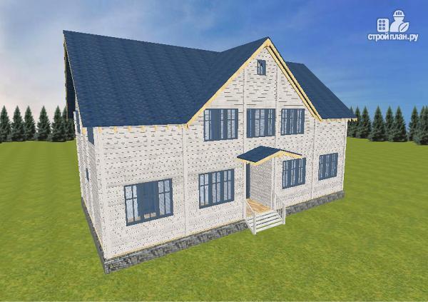 Фото 5: проект спаренный дом из бруса 9.5х14