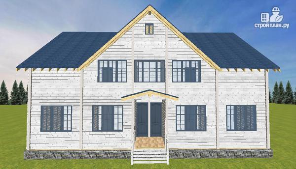 Фото 2: проект спаренный дом из бруса 9.5х14