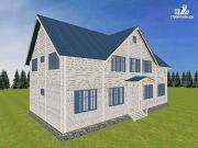 Проект спаренный дом из бруса 9.5х14