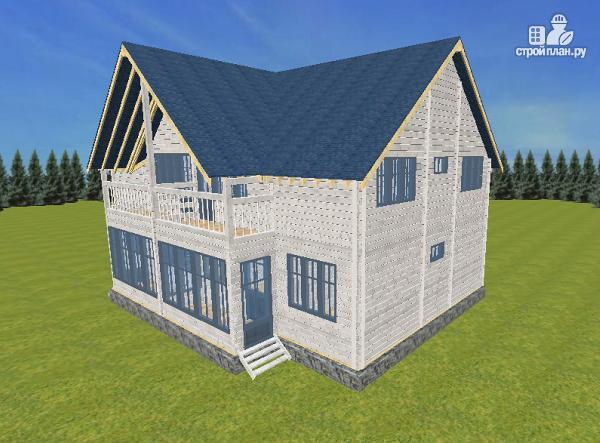 Фото 6: проект спаренный дом из бруса 9.5х14