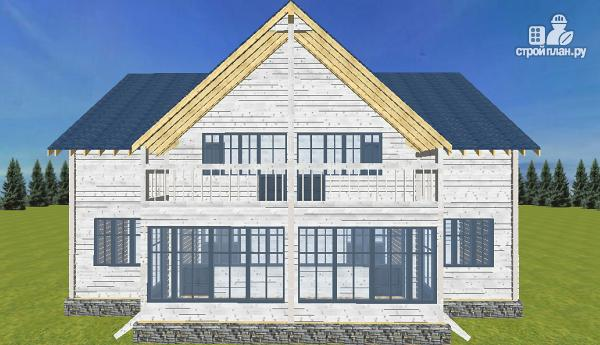 Фото 4: проект спаренный дом из бруса 9.5х14