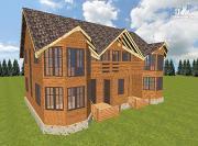 Проект спаренный дом из бруса 12.5х14