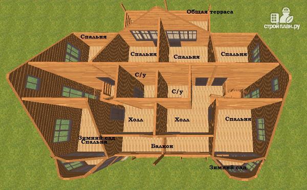 Фото 7: проект спаренный дом из бруса 12.5х14