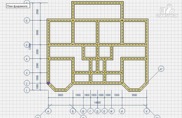 Фото 2: проект спаренный дом из бруса 12.5х14