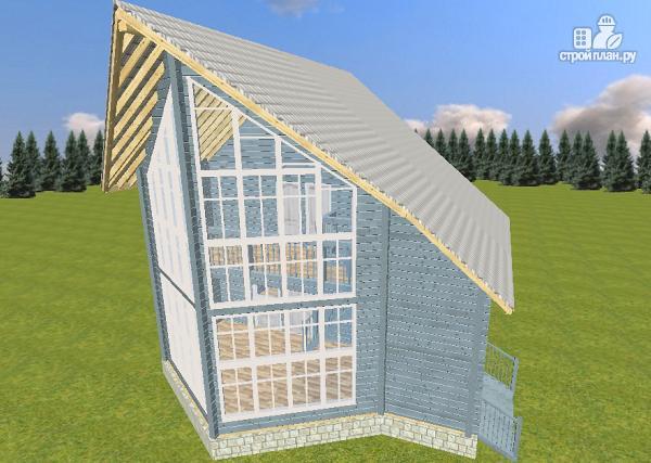 Фото: проект дом из бруса со вторым светом