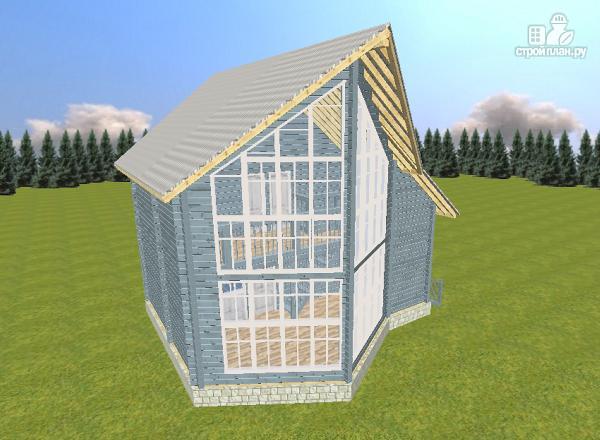 Фото 2: проект дом из бруса со вторым светом