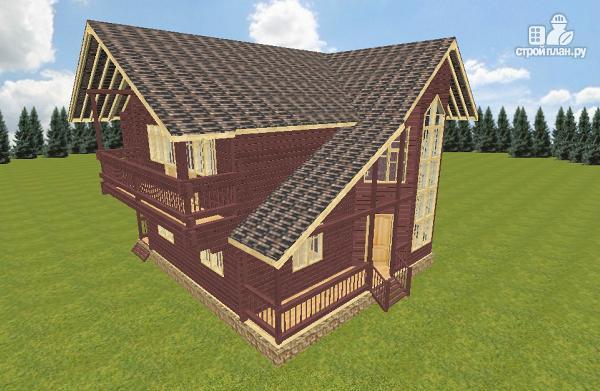 Фото 4: проект дом из бруса 10х10