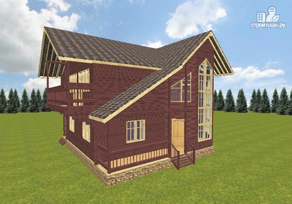 Фото 2: проект дом из бруса 10х10